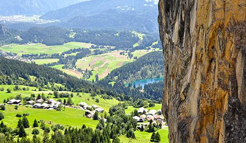 Klettersteigset Mieten Flims : Klettersteig pinut historischer bei flims