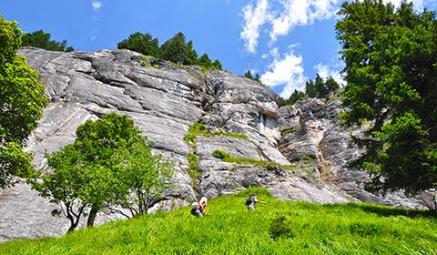 Klettersteig Flims : Klettersteig pinut historischer bei flims