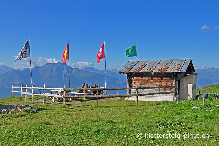 Klettersteig Flimserstein : Klettersteig pinut alp flimserstein