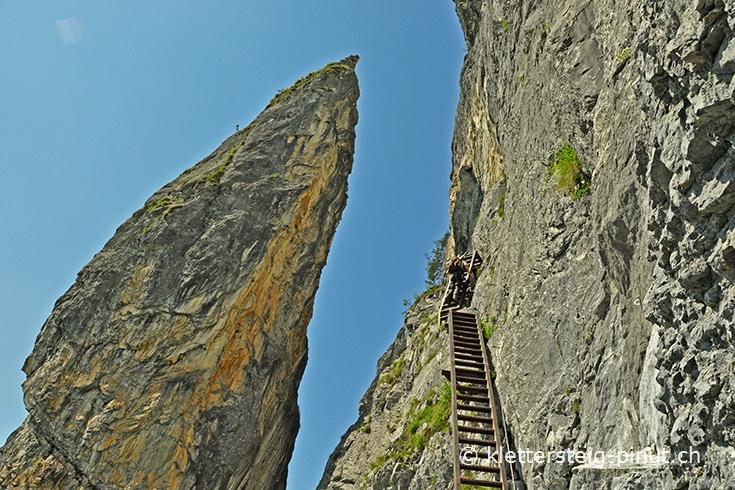 Klettersteig Pinut : Klettersteig pinut felsstufe der meilerstein