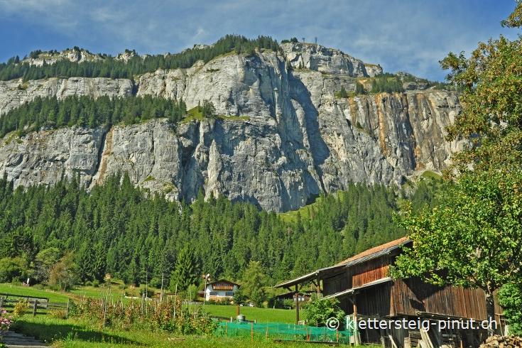 Klettersteig Flims : Klettersteig pinut zustieg ab fidaz dorf